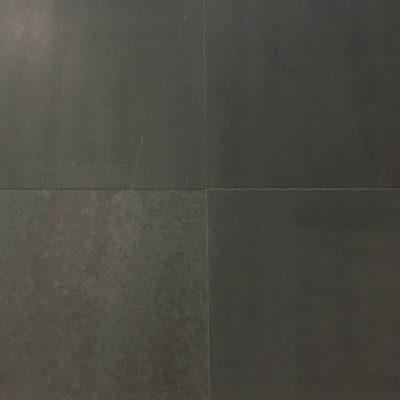 Binnen vloertegel - 60x60x1,5- natuursteen -Zwart graniet gezoet Art E Livingstone Goes