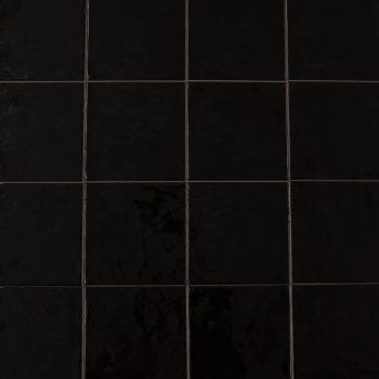 Keramische wandtegel – 15x15 - Black - Art nr 1001