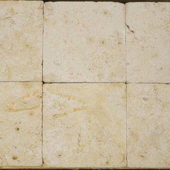 Natuursteen binnentegel - 15x15x1 - Travertin yellow light - Art nr 132