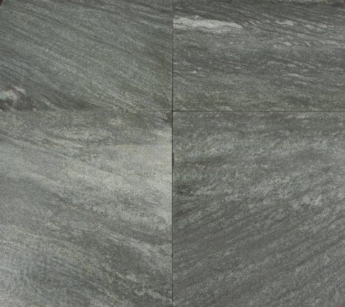 Natuursteen binnentegel - 60x60 - Grey green - Art nr 155