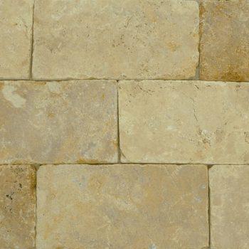 Natuursteen binnentegel - 10x20x1 - Travertin yellow - Art nr 211