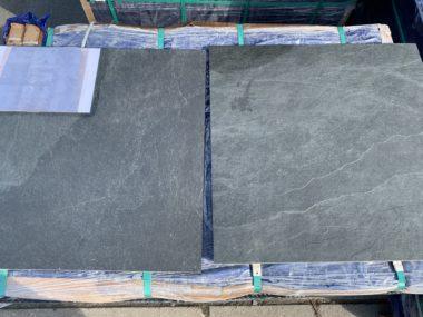 Keramische tuintegel Wells Slate black 60x60